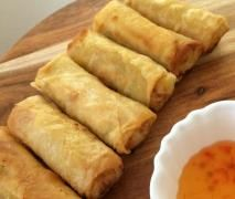 "Thai Spring Rolls ""Poh Pia"" prepared in the Thermomix."