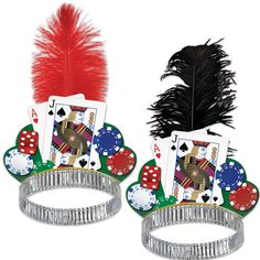 A must for any casino night! The Casino Night Tiara features a silver foil headband, graphic with playing cards, dice, and poker chips Las Vegas Party, Vegas Theme, Casino Night Party, Vegas Casino, Casino Party Decorations, Casino Theme Parties, Themed Parties, Las Vegas Costumes, Stag And Doe