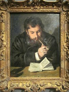 Renoir. Portrait of Claude Monet, 1972. National Gallery, DC