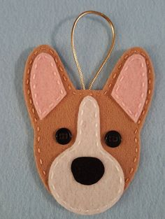Corgi Ornaments by myk9creations on Etsy