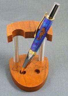 Handturned Seahorse Elegant Twist Pen by pioneerpens on Etsy, $55.00