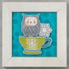 """DM205104 -  Warm & Wise   - Winter Cheer - Kit Includes: Beads, perforated paper , floss, needles, chart and instructions.   6"""" x 6"""" Mill Hill frame GBFRM10  sold separately.  Background fabric not included. Size: 4.25"""" x 5.75"""""""