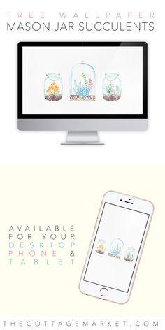 Mason Jar Wallpaper - FREE Downloads! - Mason Jar Crafts Love