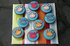 Giraffe cupcakes fro