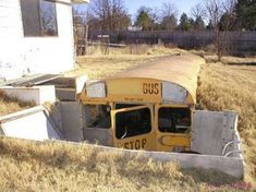 SHUT THE FRONT DOOR! #UPCYCLE A SCHOOL BUS AND REPURPOSE IT INTO A ROOT CELLAR! #BRILLIANT! #preppers #survival #shtf #homesteaders