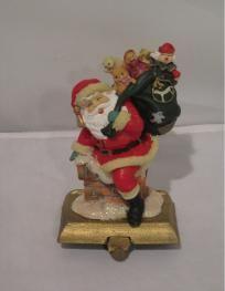 Santa Stocking Holder Santa Stocking, Stocking Holders, Disney Characters, Fictional Characters, Stockings, Disney Princess, Christmas, Art, Socks