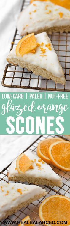 These Low-Carb Glazed Orange Scones are a tart and citrusy baked good that pairs perfectly with your morning coffee! This recipe is low-carb, keto, nut-free, paleo, dairy-free, gluten-free, grain-free, vegetarian, refined-sugar-free, and contains only 3.1 grams of net carbs per serving! #lowcarb #keto #paleo #dairyfree #glutenfree #grainfree #nutfreeketo #paleoketo #dairyfreeketo #vegetarian #refinedsugarfree #vegetarianketo #ketodessert #lowcarbdessert #ketobreakfast #lowcarbbreakfast…