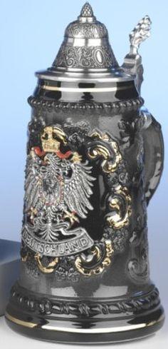 Beer Stein pewter Deutschalnd eagle Stein 0.5 liter tankard, beer mug by King Werk, http://www.amazon.ca/dp/B00CBTNWPI/ref=cm_sw_r_pi_dp_tM6Qrb0154YQD