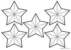 plantilla-estrellas-cinco-puntas-navidad-varias-pequenas