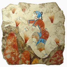 The Stream of Time: The Minoans: Fashion - The Saffron Gatherer fresco