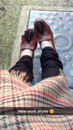 Clarks busby folly brown leather, new work shoes are one of the comfiest shoes I own. #clarks #busbyfolly #work #shoes