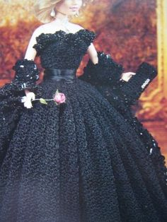 vintage crochet Barbie doll patterns | Paradise Crochet Pattern Barbie Evening Gown Wrap Purse Shoes Princess ...