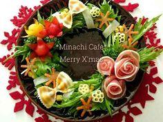 花咲くクリスマスのリースサラダの画像