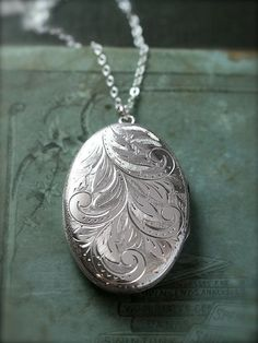 Large Oval Sterling