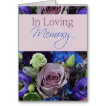 In Loving Memory/Celebration of Life Invitation Greeting Card