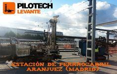 Obra realizada por Pilotech Levante en estación de ferrocarril de Aranjuez, año 2015.