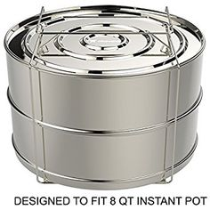 Amazon.com: ekovana Stackable Stainless Steel Pressure Cooker Steamer Insert Pans - For Instant Pot Accessories 6 qt: Kitchen & Dining