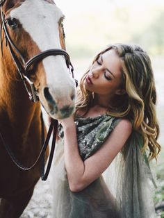 I caught a glimpse of you in the future... (Daisy Ward And Anna Ptak By Fox Harvard For Remark Magazine) #horses #equine