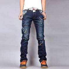 >> Click to Buy << 2017 Hot Sale Top Fashion Stripe Casual Jeans Homme Brand Straight Slim Denim Trousers Male Loose Printed Jeans High Quality #Affiliate