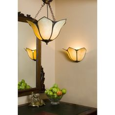 Buy traditional Tiffany lights for Victorian and Edwardian home lighting. Uplighter Art Nouveau Tiffany wall washer in amber glass. Wall, Wall Lights, Stained Glass Light, Light, Art Nouveau Furniture, Lighting, Ceiling Pendant, Tiffany Lighting, Ceiling Lights