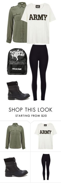 """Army"" by aye-its-me-lila on Polyvore featuring Frame Denim and NLST"