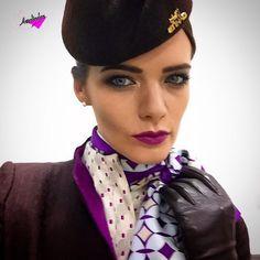 New Uniform Etihad Airways perfect. #Aerolinda : Jennifer . ✈️❤️ @flywithjennifer