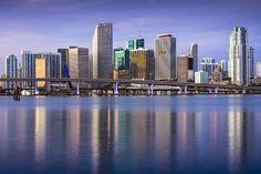 size: Photographic Print: Miami, Florida, USA Downtown Skyline at Dawn. by SeanPavonePhoto : Miami Florida, Orlando Florida, Miami Beach, Miami Skyline, New York Skyline, Miami Images, City Lights, San Francisco Skyline, America