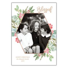 Christmas Photo Cards from BrownPaperStudios.com Religious Christmas Cards, Christmas Photo Cards, Christmas Photos, Christmas 2019, Merry Christmas, New Year Greeting Cards, New Year Greetings, Blessed, Floral
