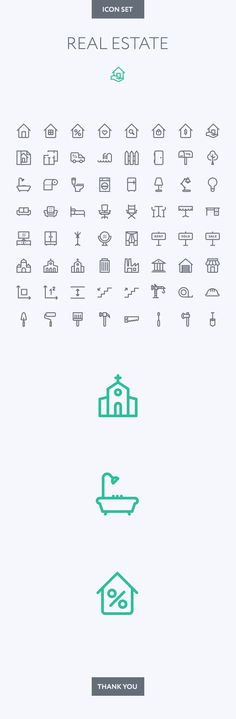 Real Estate icon set on Behance                              …