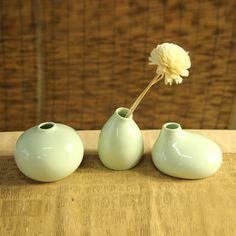3Pcs Ceramic Vase Flower Bottle Ceramic Ornaments Flower Aroma Pottery Home Furnishings Decor
