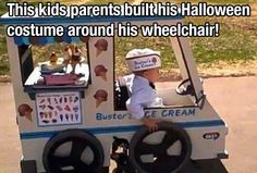 This kids parents built his Halloween costume around his wheelchair.....Absolutely  A-M-A-Z-I-N-G!!!!!