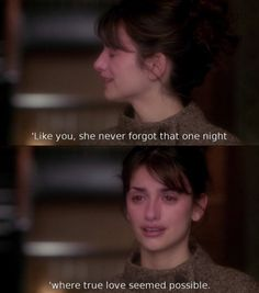 Omg, this part breaks my heart. And the song that is playing is during this part is what I walked down the aisle to for my wedding. Vanilla Sky.