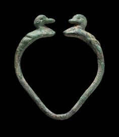 Small duck bracelet Near Eastern, Iranian, Luristan, Iron Age, 7th–4th century B.C. (MFA)