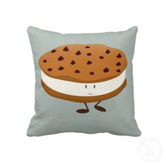 Cookie ice cream sandwich character pillow by Melissa Patton at zazzle.com  (I sell licenses for the graphic at sweetsham.com)