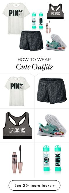 nike shoes Cute workout outfit by emipooh on Polyvore featuring Victorias Secret, NIKE and Maybelline