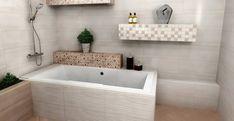 Koupelnové obklady a dekory elegantní série Blossom jsou vhodné do větších i menších koupelen. Obklady jsou ve formátu 25 x 60 cm. #keramikasoukup #koupelnyodsoukupa #blossom #koupelnyinspirace #obkladydokoupelny #inspirace #inspiration #scandinavian Corner Bathtub, Alcove, Bathroom, Design, Washroom, Full Bath, Bath, Bathrooms