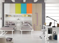 kids bedroom set diletta d35spar, italy | modern kids bedroom