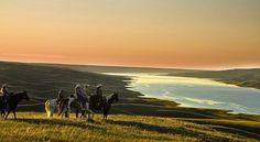 """I tramp a perpetual journey."" - Walt Whitman ______________________________________________ La Reata Ranch Saskatchewan photo by Greg Huszer Photography Courtesy of Destination Canada ______________________________________________ @huszarphoto #lareata @tourismsask #travelinspo #travelquote #seetheworld #horsebackriding #discover #travel #canada #travel #saskatchewan #sunset #wanderlust #rideexplore"