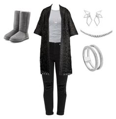 """""""Untitled #27"""" by annettesmalls28 on Polyvore featuring T By Alexander Wang, UGG Australia, Kendra Scott, W. Britt and Monica Vinader"""