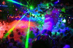 Foam Party In Ibiza, Spain