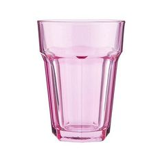 Pastel Pink Soda Glass ($0.64) ❤ liked on Polyvore featuring home, kitchen & dining, drinkware, pink soda and everyday drinkware