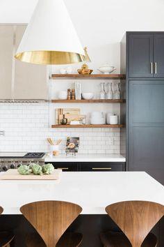 Wood open shelves    Studio McGee