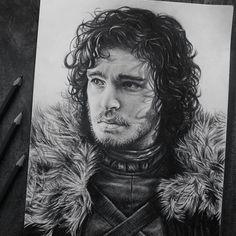 Jon Snow drawing by Fame Art