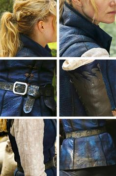 "Details of Emma Swan's au outfit in 4x21/4x22 ""Operation Mongoose Part 1 and 2"". She looks like a female Flynn Rider!"