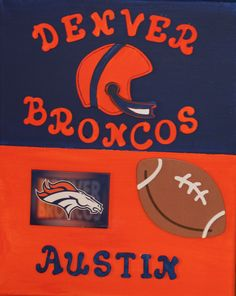 denver bronco canvas for austin