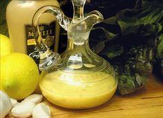 Lemon Garlic Dijon Vinaigrette--This is my FAVORITE go-to salad dressing! It's yummy & good for you!