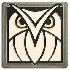 Grey White Owl, Motawi Tiles I love the simplicity of this idea for stained glass patchwork?