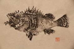 Fishing For Gyotaku (dwight hwang)The direct method currently is used throughout the world to record images of a wide diversity of subjects. For example, most western fish printers utilizing the direct method but apply colored inks to more closely duplicate the natural colors of their subjects. Unlike prints from plates or blocks in which identical, duplicate images can be created the direct method produces unique, one-of-a-kind prints, termed monotypes.