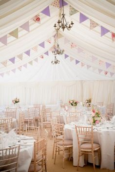 Lovely DIY Wedding Bunting and Garland Ideas - Praise Wedding Wedding Bunting, Marquee Wedding, Tent Wedding, Diy Wedding, Wedding Reception, Wedding Venues, Dream Wedding, Wedding Ideas, Wedding Inspiration