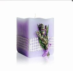 Handmade Lavender Blossom Candle - Aromatherapy
